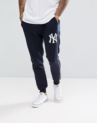 Majestic New York Yankees Joggers In Navy Navy