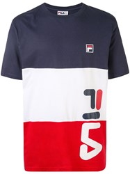 Fila Colour Block T Shirt Yellow