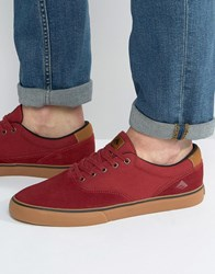 Emerica Provost Sneakers In Red Red