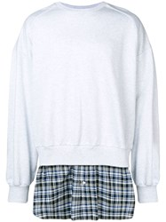 Juun.J Layered Sweatshirt Grey