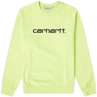 Carhartt Wip Logo Sweat Green