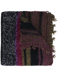 Etro Striped Chunky Knit Scarf