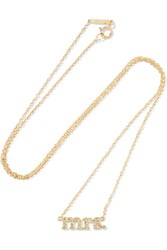 Jennifer Meyer Mrs 18 Karat Gold Diamond Necklace