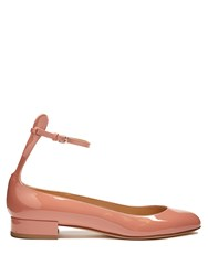 Francesco Russo Patent Leather Ballet Flats Light Pink