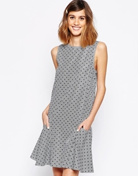 See By Chloe Dress In Seersucker Stripe White