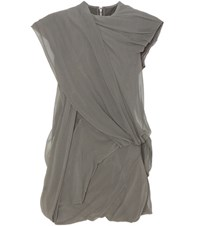 Rick Owens Cotton And Silk Top Grey