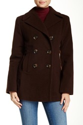 Kenneth Cole Wool Blend Peacoat Brown