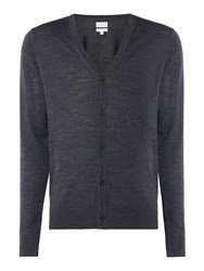 Linea Thames Merino Button Cardigan Charcoal