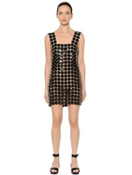 Paco Rabanne Soft Plastic And Leather Discs Dress