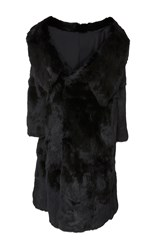 Monse Rabbit Fur Coat Black