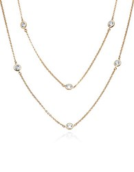 Crislu Rose Gold Update Crystal Dby Necklace 36 In
