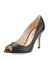 Neiman Marcus Betolle Kidskin Leather Pump Black
