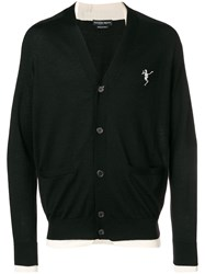 Alexander Mcqueen Dancing Skeleton Cardigan Black