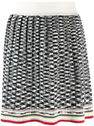 Missoni Two Tone Design Skirt White