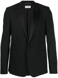 Saint Laurent Grain De Poudre Tube Tuxedo Jacket Black
