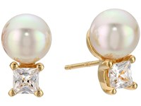 Majorica Tu Y Yo Cz Gold Stud Earrings White Earring
