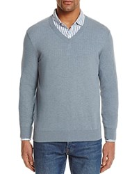 Bloomingdale's The Men's Store At Cotton V Neck Sweater 100 Exclusive Light Heather Blue