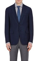 Isaia Men's Two Button Gregory Sportcoat Blue