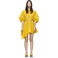 Marques Almeida Yellow Curved Sleeved Dress