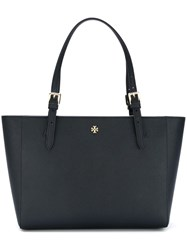 Tory Burch Small 'York' Buckle Tote Blue