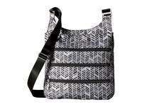 Baggallini Big Zipper Bagg Black And Grey Chevron Cross Body Handbags Gray
