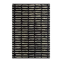 Amara Dotted Lines Rug Black And White 140X200cm