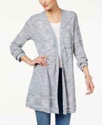 Styleandco. Style Co. Open Front Duster Cardigan Only At Macy's Blue Combo