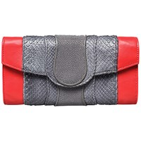 Khirma Eliazov Lindsay Clutch Grey And Red
