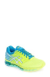 Asicsr Women's Asics 'Gel Quantum 180 2' Running Shoe Yellow White Blue Jewel