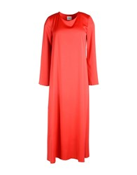 .. Merci 3 4 Length Dresses Red
