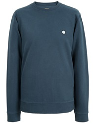 Pretty Green Foxlair Cotton Sweatshirt Navy