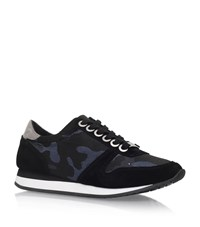 Carvela Kurt Geiger Libby Camo Trainers Female Blue