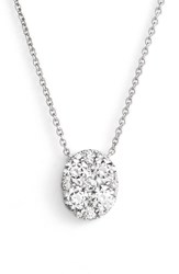 Women's Bony Levy 'Mika' Pave Diamond Large Oval Pendant Necklace Nordstrom Exclusive