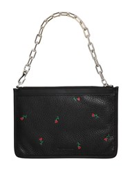 Alexander Wang Attica Rose Print Leather Pouch W Chain