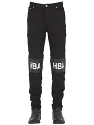 Hba Hood By Air 16.5Cm Hockey Stripe Cotton Denim Jeans