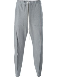 Individual Sentiments Seam Detail Track Pants Grey