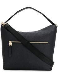 Borbonese Opla' Leather Shoulder Bag Black