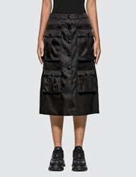 Prada Nylon Gabardine Skirt Black