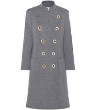 Chloe Double Breasted Wool Coat Grey