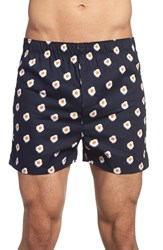 Men's The Rail 'Fried Eggs' Print Woven Cotton Boxers 3 For 25