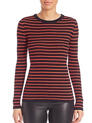 Set Striped Knit Pullover Blue