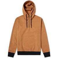 Sophnet. Melton Fleece Hoody Brown
