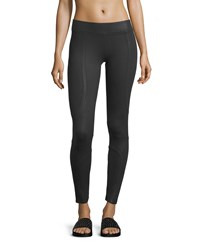 Yummie Tummie Ankle Length Moto Leggings Black