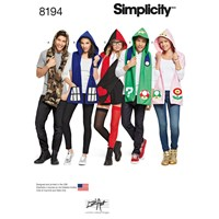 Simplicity Hooded Character Scarf Sewing Pattern 8194