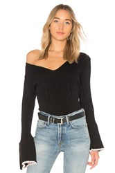 Central Park West Bourbon Street Bell Sleeve Sweater Black