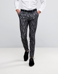 Asos Super Skinny Lace Trousers Black