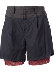 Kolor Layered Panel Shorts Black