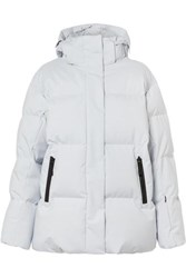 Bogner Fire And Ice Vera Hooded Quilted Down Ski Jacket Light Gray