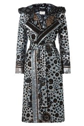 Peter Pilotto Brocade Lame Hooded Coat Multicolor