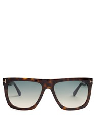 Tom Ford Sunglasses Morgan Flat Top Tortoiseshell
